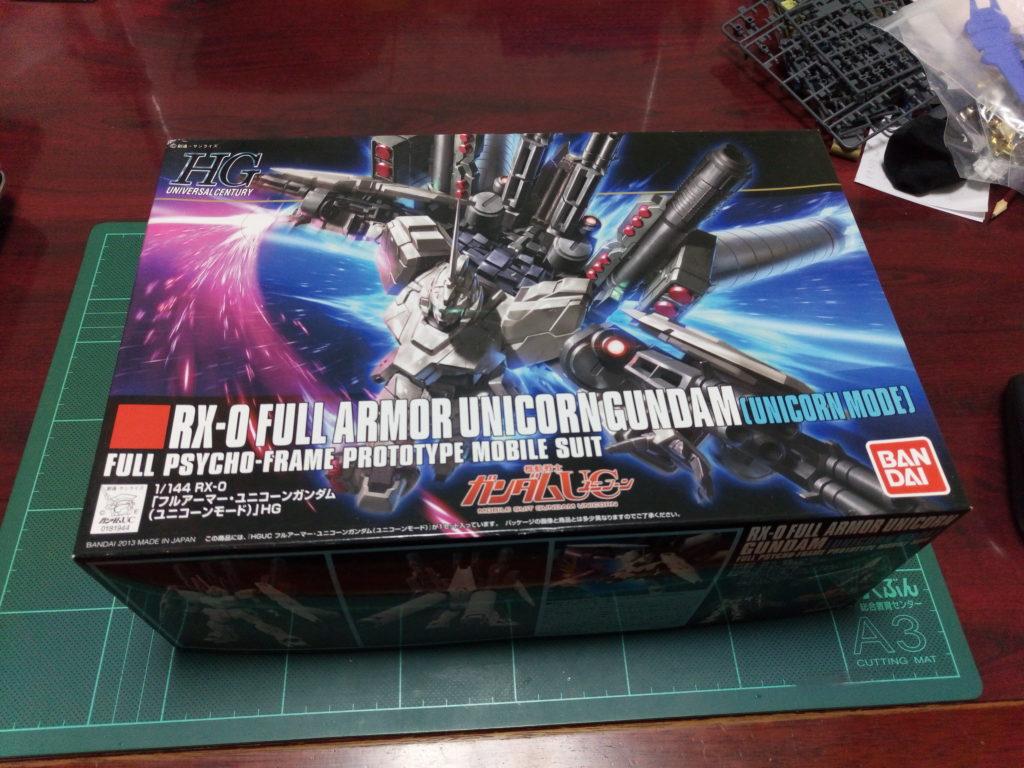 HGUC 1/144 RX-0 フルアーマー・ユニコーンガンダム(ユニコーンモード) パッケージ