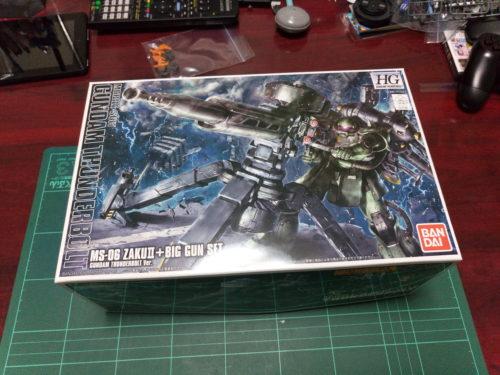HGTB 1/144 MS-06 量産型ザク+ビッグ・ガン(GUNDAM THUNDERBOLT Ver.) [Zaku II & Big Gun (Gundam Thunderbolt ONA Ver.)]