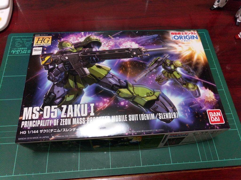 HG 1/144 MS-05 ザクI(デニム/スレンダー機) パッケージ