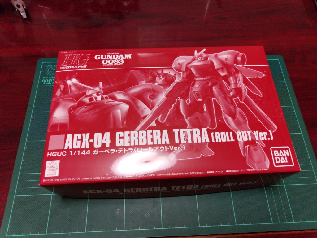 HGUC 1/144 AGX-04 ガーベラ・テトラ(ロールアウトVer.) パッケージ