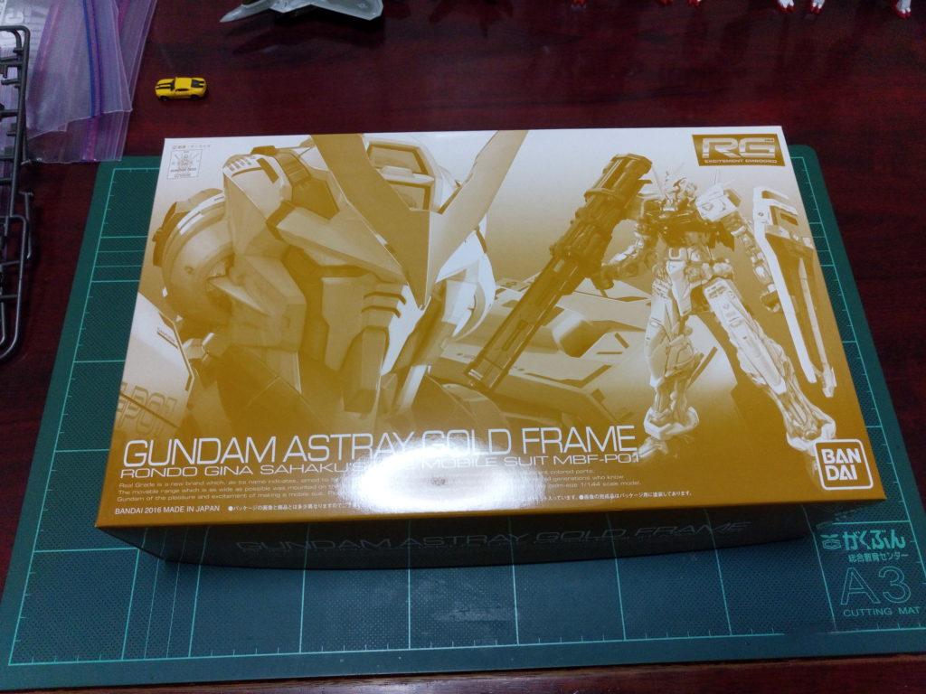 RG 1/144 MBF-P01 ガンダムアストレイゴールドフレーム [Gundam Astray Gold Frame] パッケージ