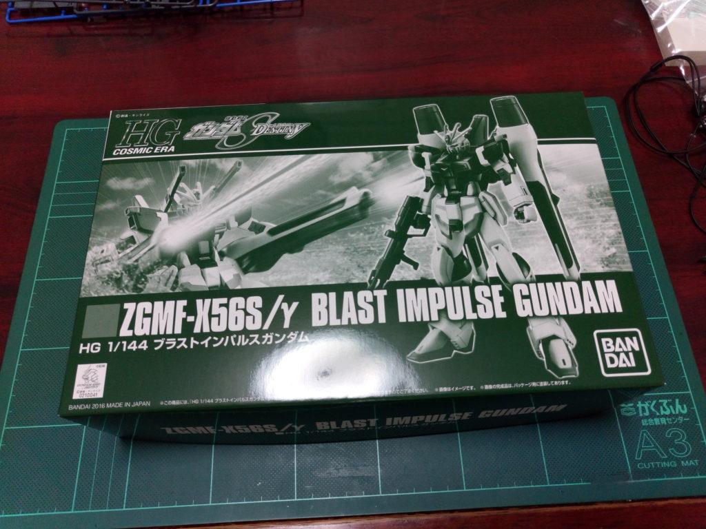 HGCE 1/144 ZGMF-X56S/γ ブラストインパルスガンダム パッケージ