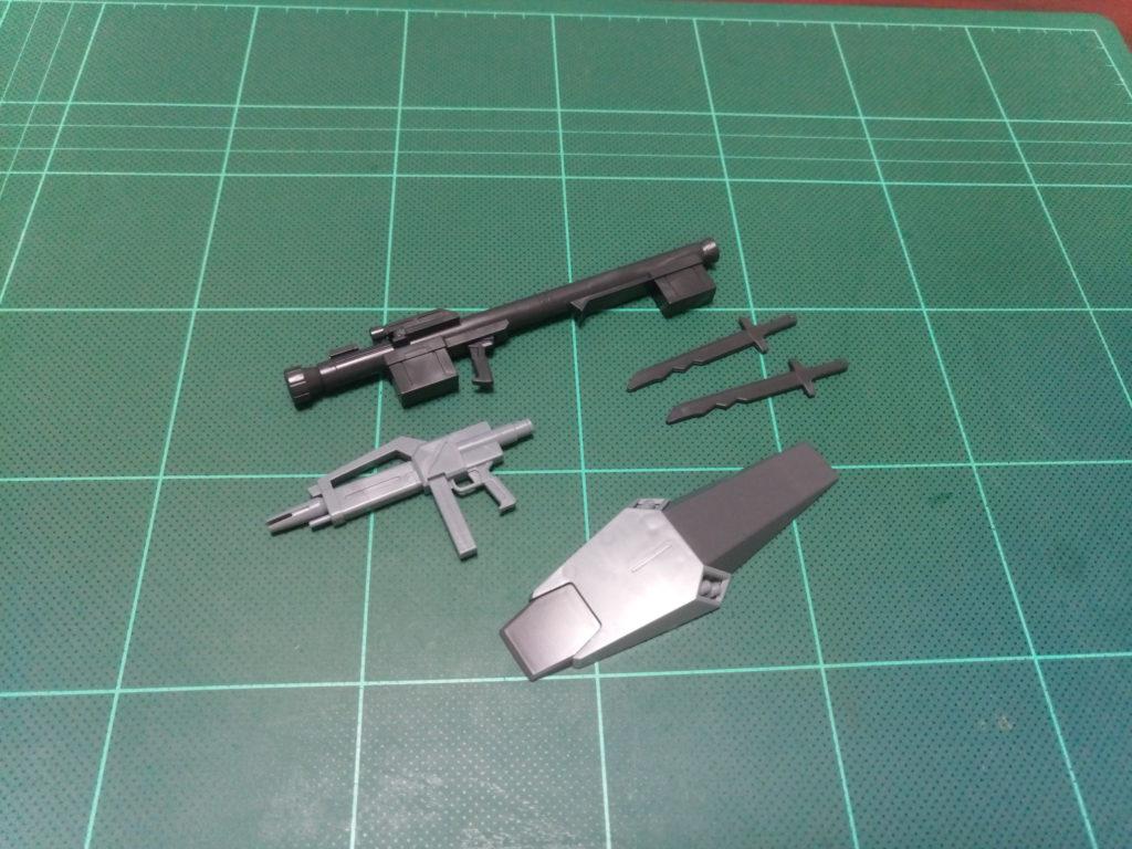 HGBF 1/144 RGM-89GF ゴーストジェガンF セット内容