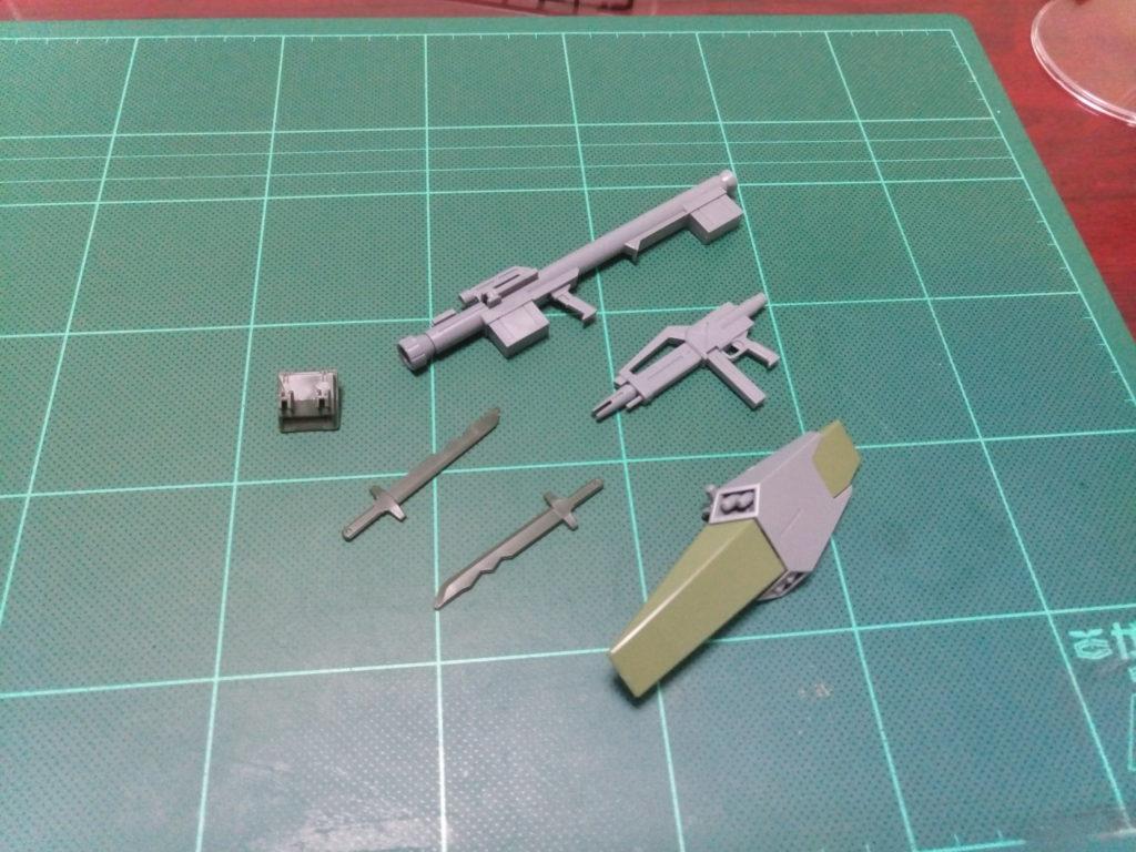 HGBF 1/144 RGM-89GM ゴーストジェガンM セット内容