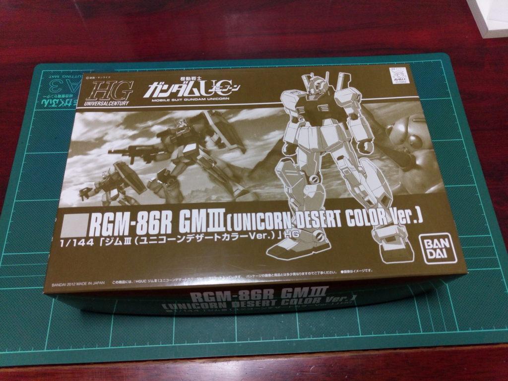HGUC 1/144 RGM-86R ジムIII(ユニコーンデザートカラーVer.) パッケージ