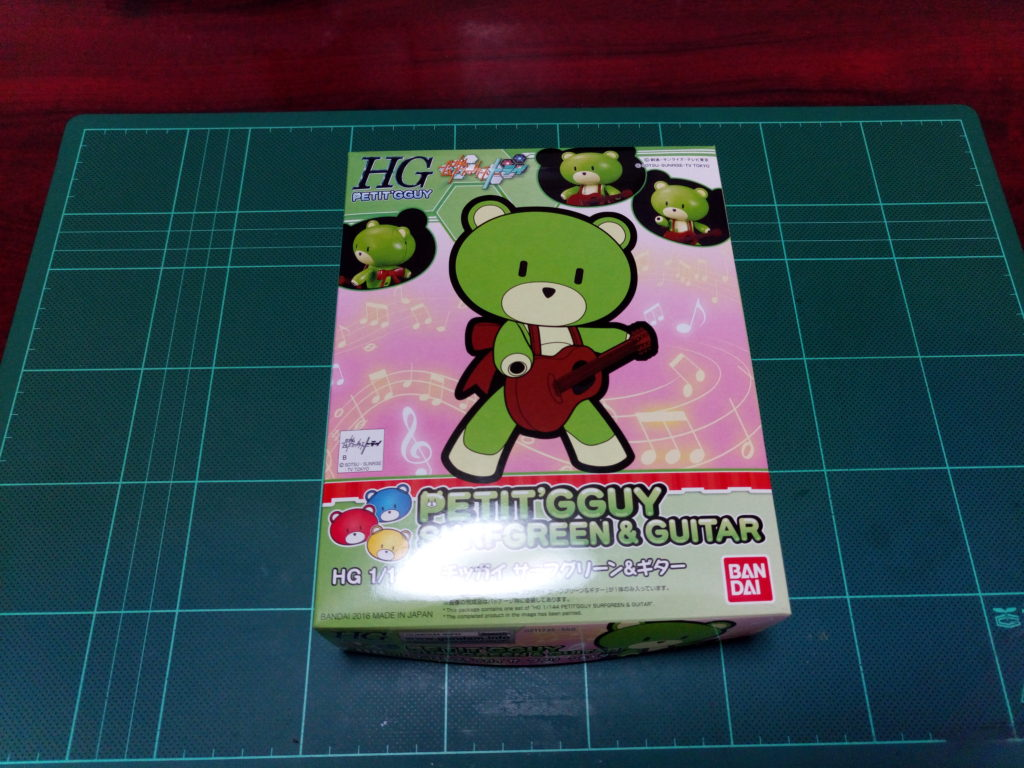 HGPG 1/144 プチッガイ サーフグリーン&ギター [Petit'gguy Surf Green & Guitar] パッケージ