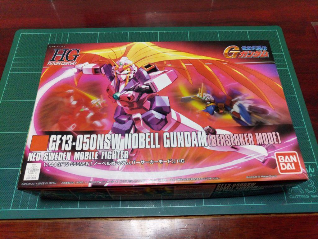 HGFC 1/144 GF13-050NSW ノーベルガンダム(バーサーカーモード) [Nobell Gundam Berserker Mode] パッケージ