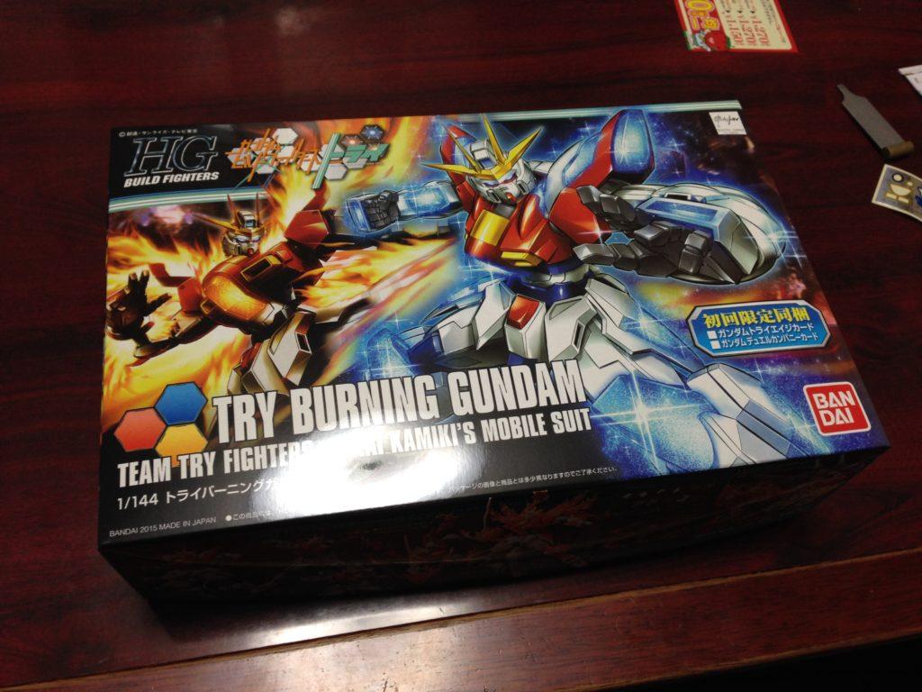 HGBF 1/144 TBG-011B トライバーニングガンダム [Try Burning Gundam] パッケージ