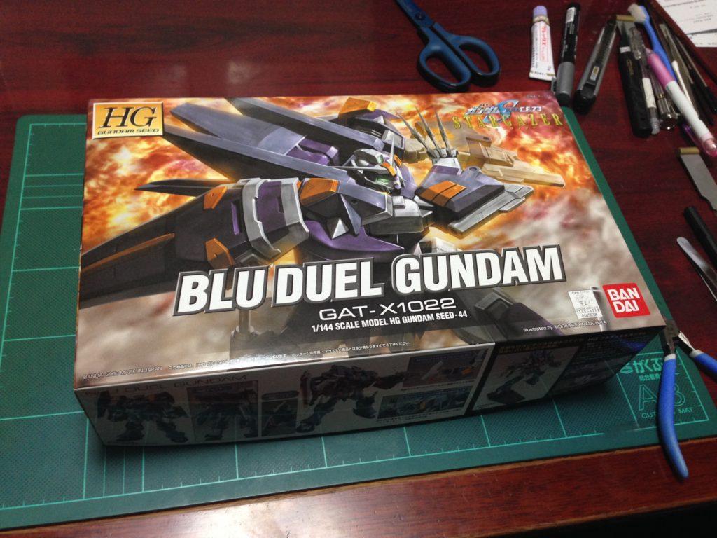 HG 1/144 GAT-X1022 ブルデュエルガンダム [Blu Duel Gundam] パッケージ