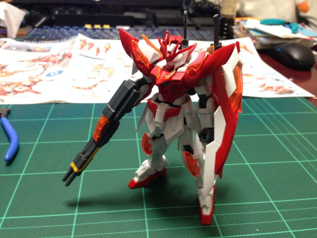 HGBF 1/144 XXXG-00W0CV ウイングガンダムゼロ炎 [Wing Gundam Zero Honoo] 正面