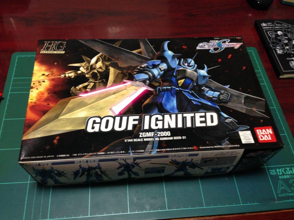 HG 1/144 ZGMF-2000 グフイグナイテッド(量産機) [GOUF Ignited Mass Production Colors] パッケージ
