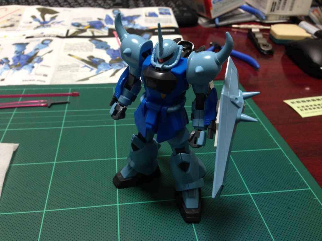 HG 1/144 ZGMF-2000 グフイグナイテッド(量産機) [GOUF Ignited Mass Production Colors] 正面