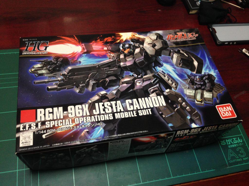 HGUC 1/144 RGM-96X ジェスタ・キャノン パッケージ