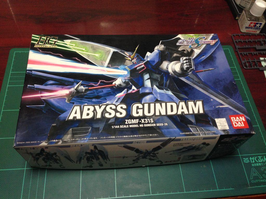 HG 1/144 ZGMF-X31S アビスガンダム [Abyss Gundam] パッケージ