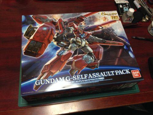 HG 1/144 YG-111 G-セルフ(アサルトパック装備型) [Gundam G-Self Assault Pack]