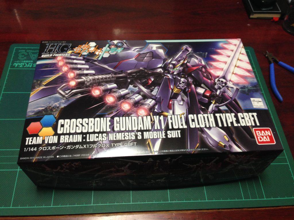 HGBF 1/144 XM-X1 クロスボーンガンダムX1フルクロスVer.GBF [Crossbone Gundam X-1 Full Cloth Type.GBFT] パッケージ