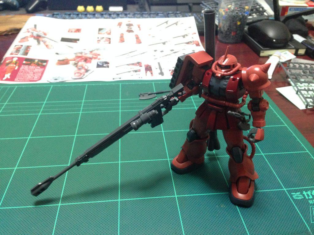 HG 001 1/144 MS-06S シャア専用ザクII 正面