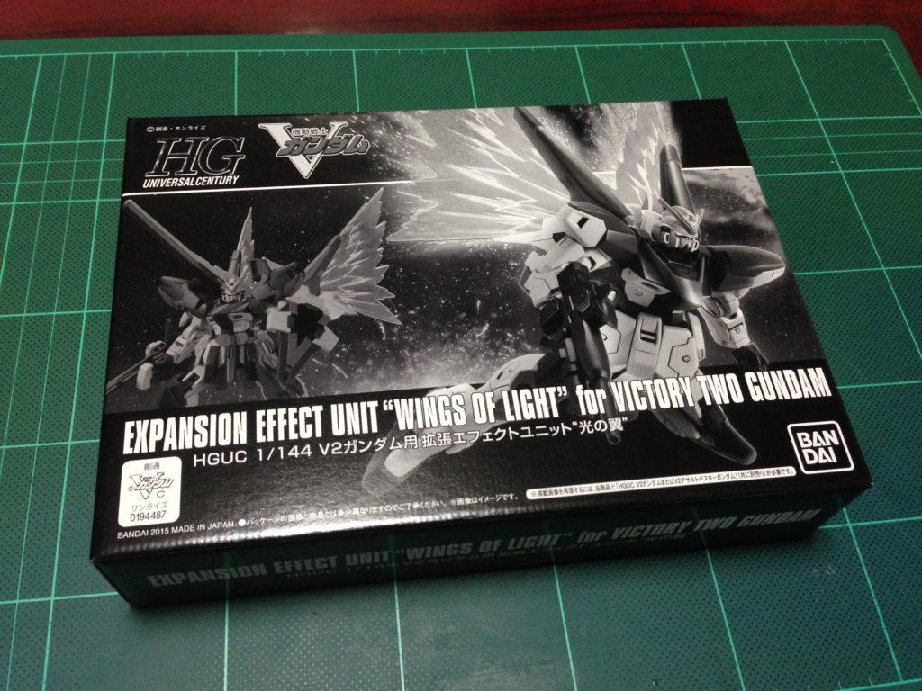 "HGUC 1/144 V2ガンダム用拡張エフェクトユニット""光の翼"" [Expansion Effect Unit ""Wings of Light"" for Victory Two Gundam] パッケージ"