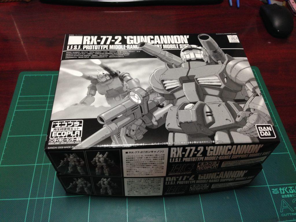 HGUC 1/144 RX-77-2 エコプラ ガンキャノン パッケージ