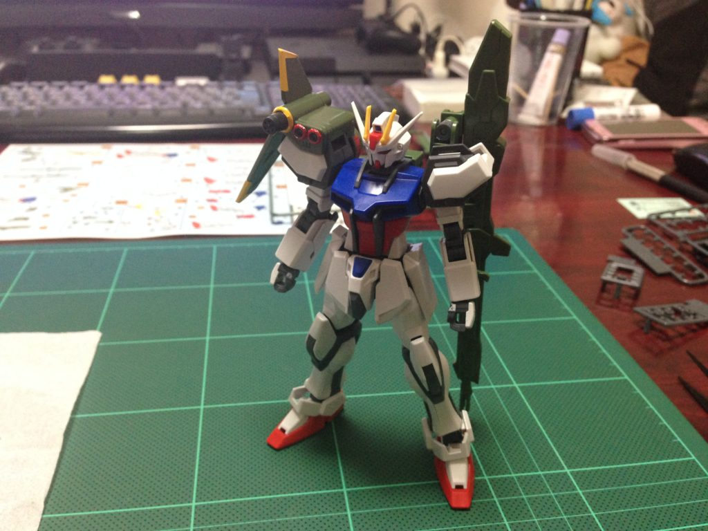 コレクションシリーズ 1/144 GAT-X105 ランチャーストライクガンダム [Collection Series Launcher Strike Gundam] 正面
