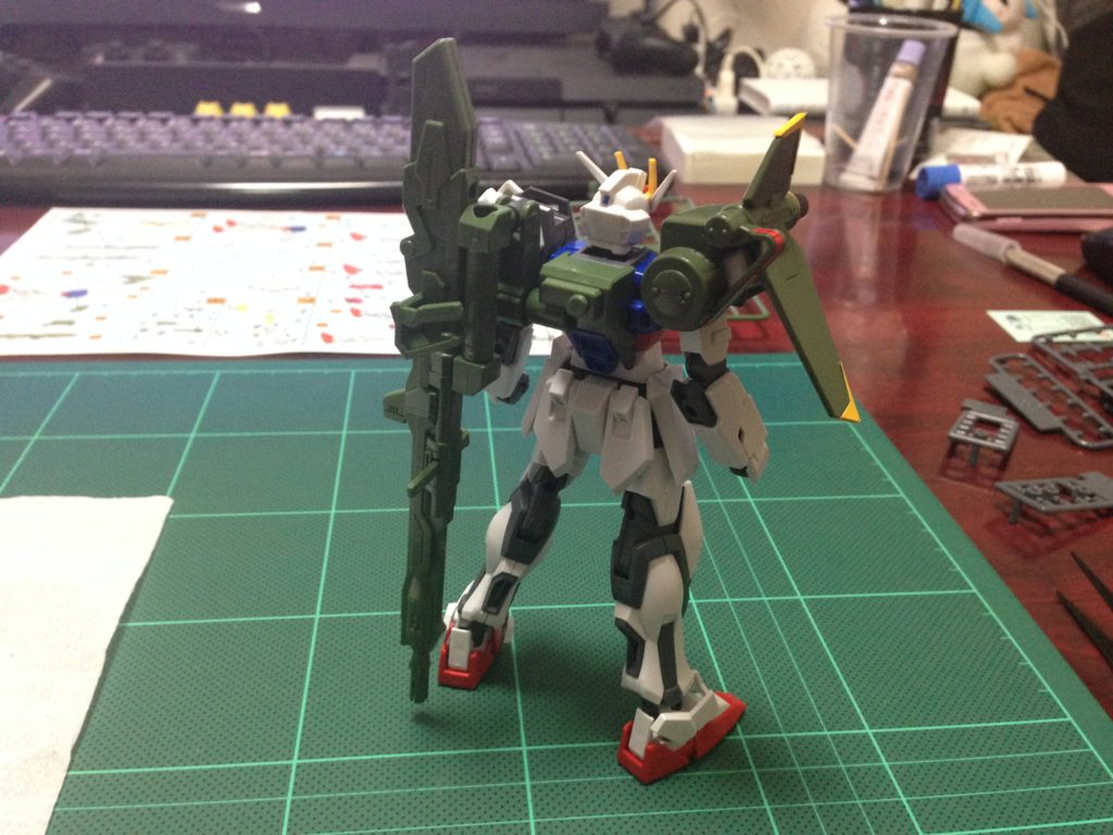 コレクションシリーズ 1/144 GAT-X105 ランチャーストライクガンダム [Collection Series Launcher Strike Gundam] 背面