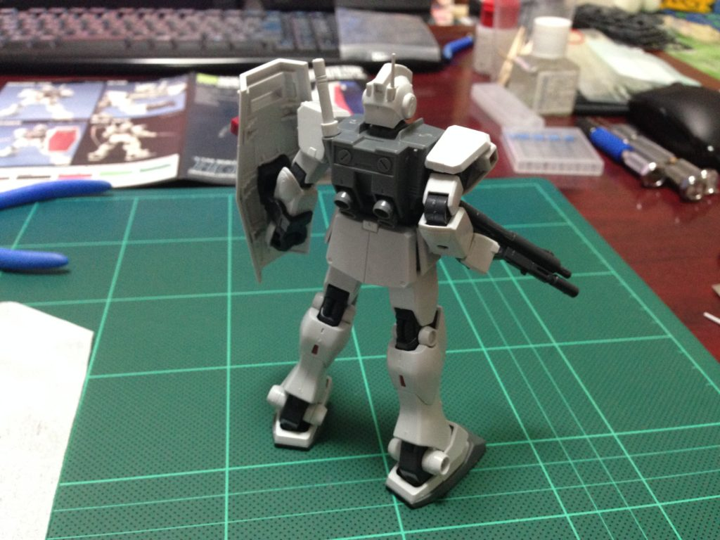HGUC 1/144 RGM-79D ジム寒冷地仕様 [GM Cold Districts Type] 背面