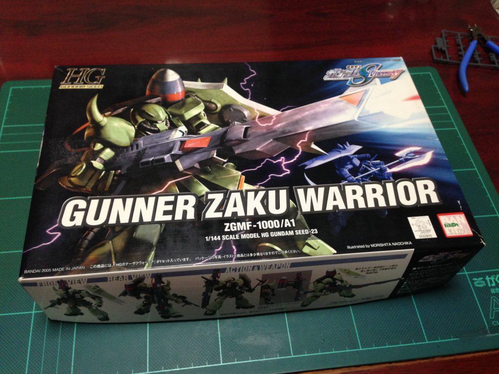 HG 1/144 ZGMF-1000/A1 ガナーザクウォーリア [Gunner ZAKU Warrior] 4543112339157 パッケージ