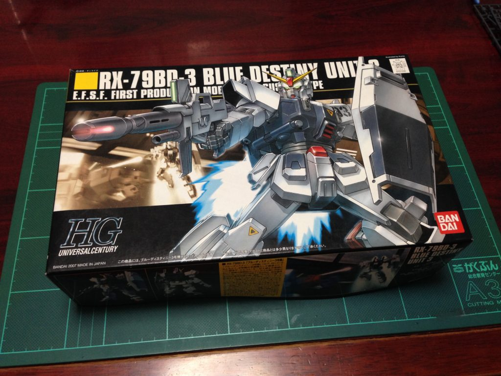 HGUC 1/144 RX-79BD-3 ブルーディスティニー3号機 [Blue Destiny Unit 3] パッケージ