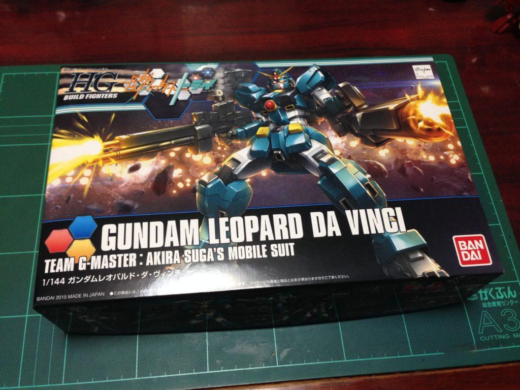 HGBF 1/144 GT-9600-DV ガンダムレオパルド・ダ・ヴィンチ [Gundam Leopard da Vinci] パッケージ