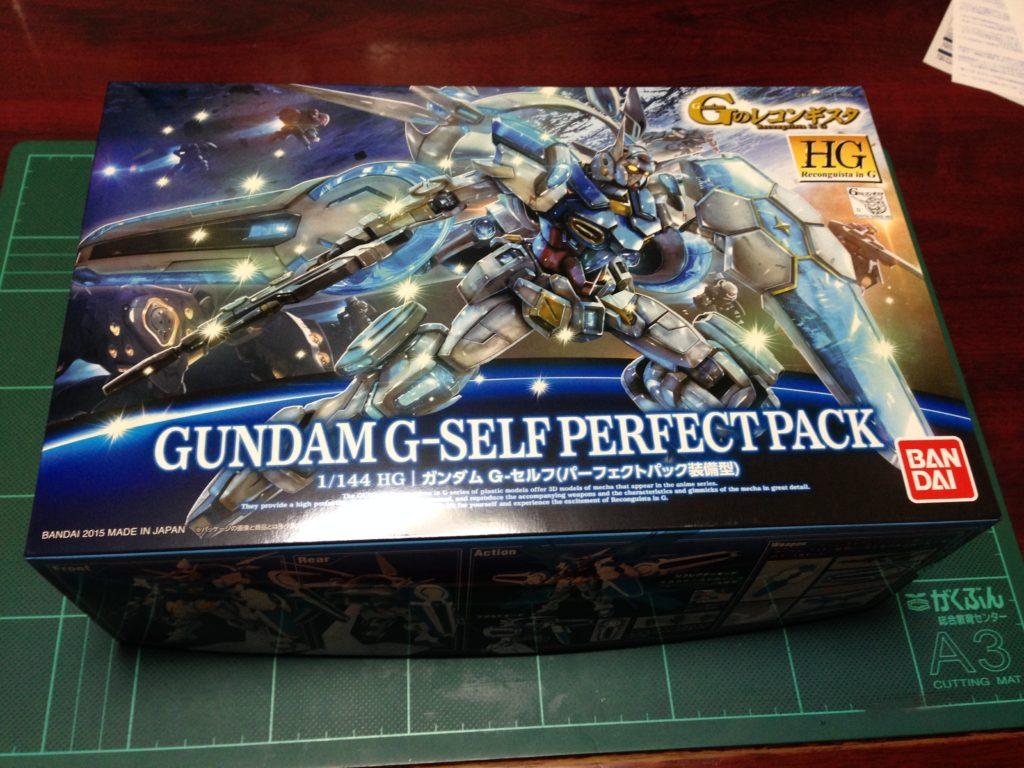 HG 1/144 YG-111 G-セルフ (パーフェクトパック装備型) [Gundam G-Self Perfect Pack] パッケージ