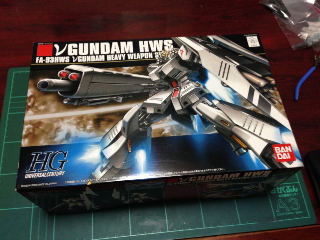 HGUC 1/144 FA-93HWS νガンダム(ヘビー・ウエポン・システム装備型)[ν Gundam HWS] パッケージ