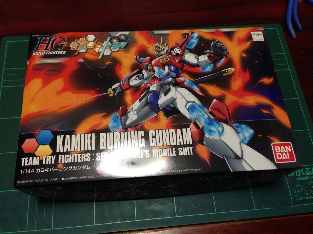 HGBF 1/144 KMK-B01 カミキバーニングガンダム [Kamiki Burning Gundam] パッケージ