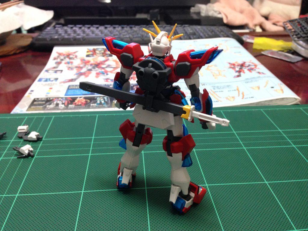 HGBF 1/144 KMK-B01 カミキバーニングガンダム [Kamiki Burning Gundam] 背面