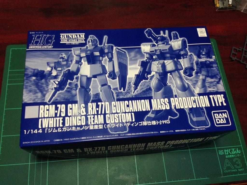HGUC 1/144 RGM-79 ジム & RX-77D ガンキャノン量産型(ホワイト・ディンゴ隊仕様) パッケージ