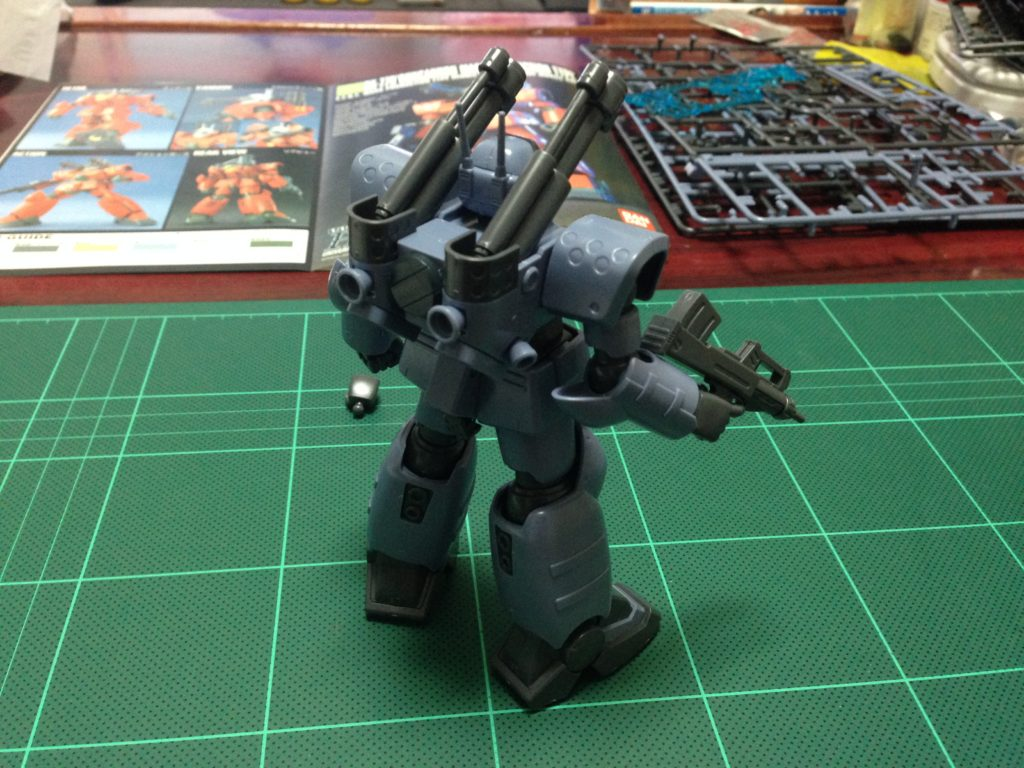 "RX-77D 量産型ガンキャノン[ホワイト・ディンゴ隊仕様機][Guncannon Mass Production Type ""White Dingo Custom""] 背面"