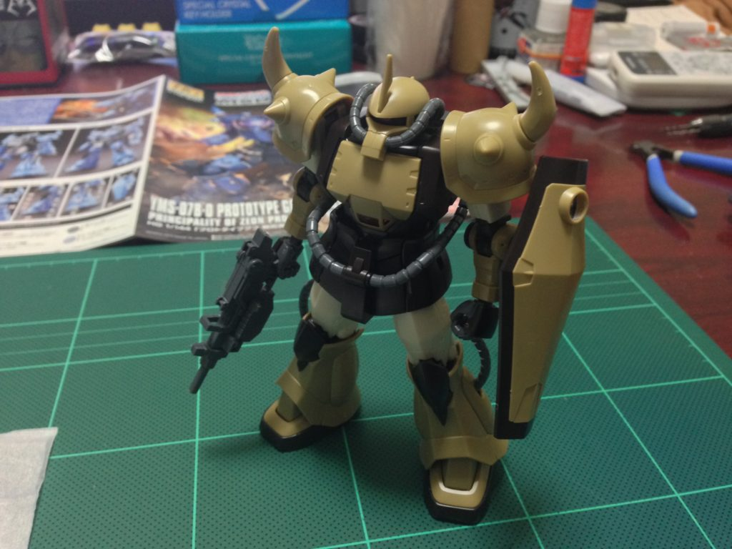 HG 1/144 YMS-07A-0 プロトタイプグフ(機動実証機サンドカラーVer) [Prototype Gouf (Mobility Demonstrator Sand Color)] 正面