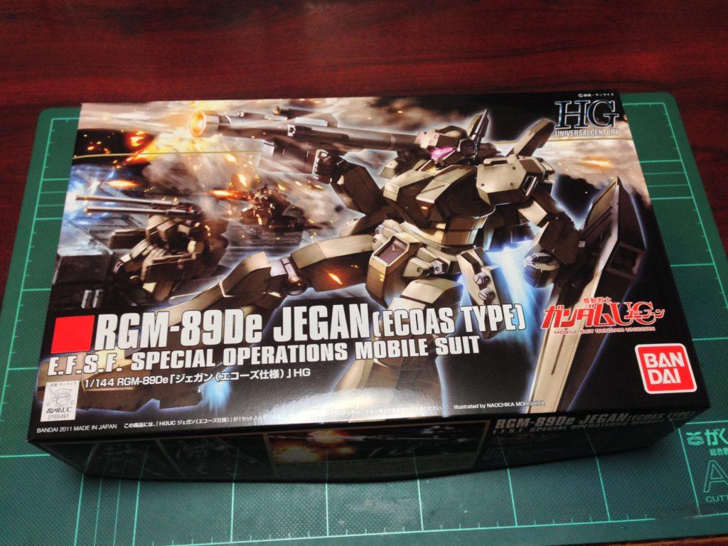 HGUC 1/144 RGM-89De ジェガン(エコーズ仕様) パッケージ