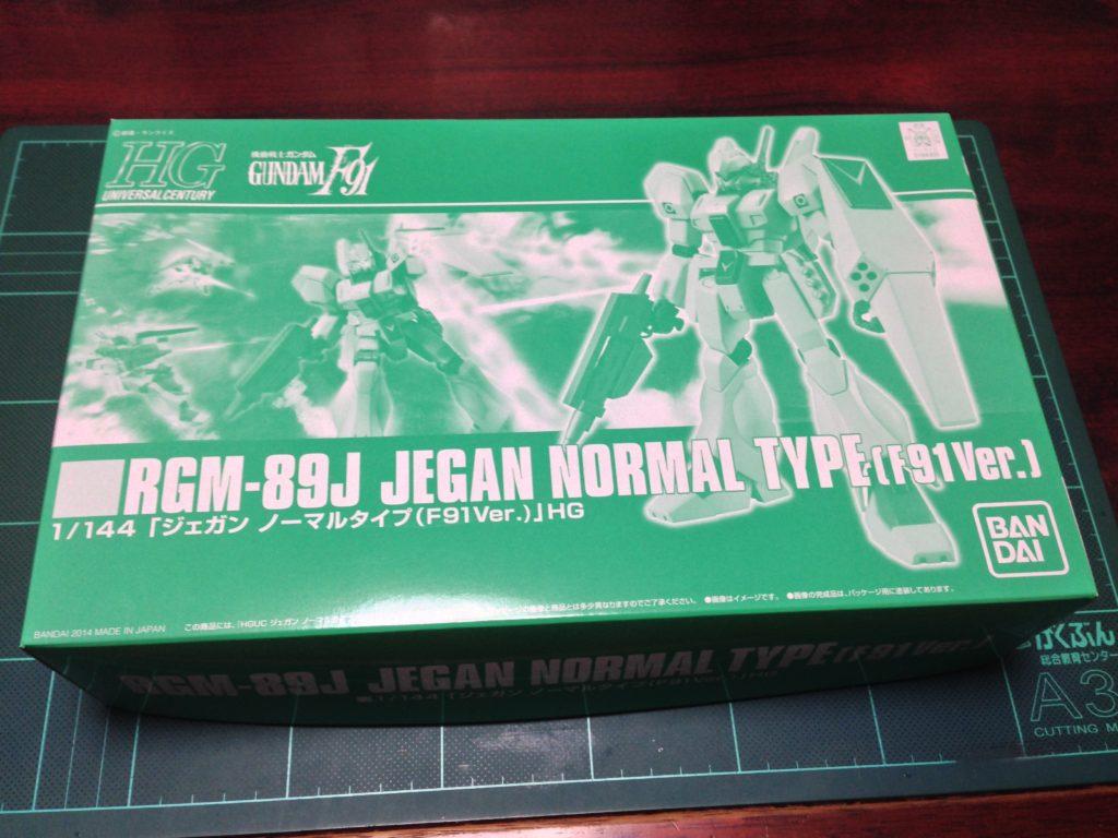 HGUC 1/144 RGM-89J ジェガン ノーマルタイプ(F91Ver.) パッケージ