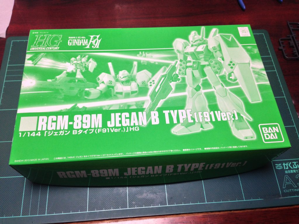 HGUC 1/144 RGM-89M ジェガン Bタイプ(F91Ver.) [Jegan B-Type (F91 Ver.)] パッケージ