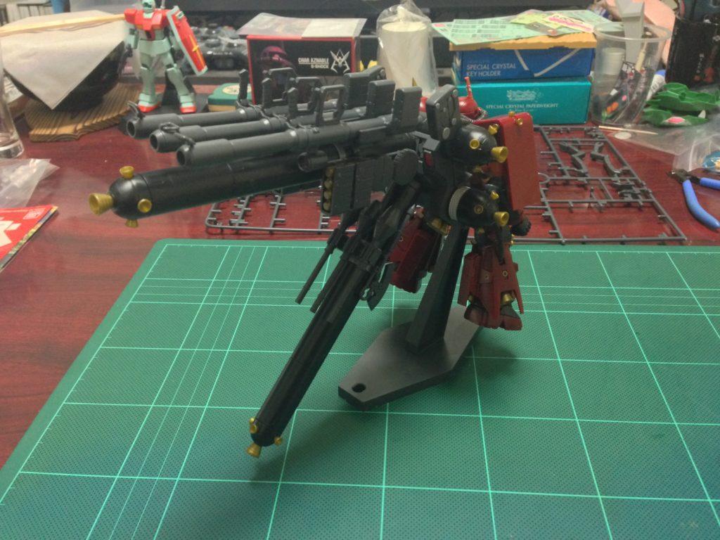 """HGTB 1/144 MS-06R 高機動型ザク""""サイコ・ザク""""(ガンダム サンダーボルト版) [Zaku II High Mobility Type """"Psycho Zaku"""" (Thunderbolt Manga Ver.)] 背面"""