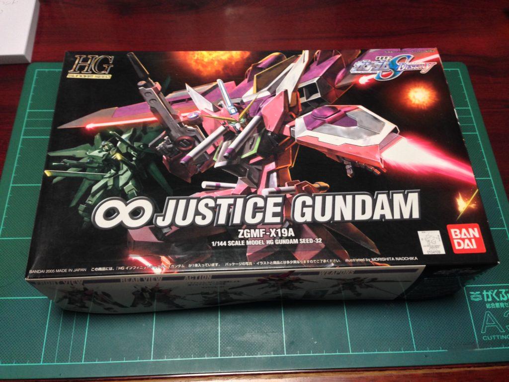 HG 1/144 ZGMF-X19A インフィニットジャスティスガンダム [Infinite Justice Gundam] パッケージ