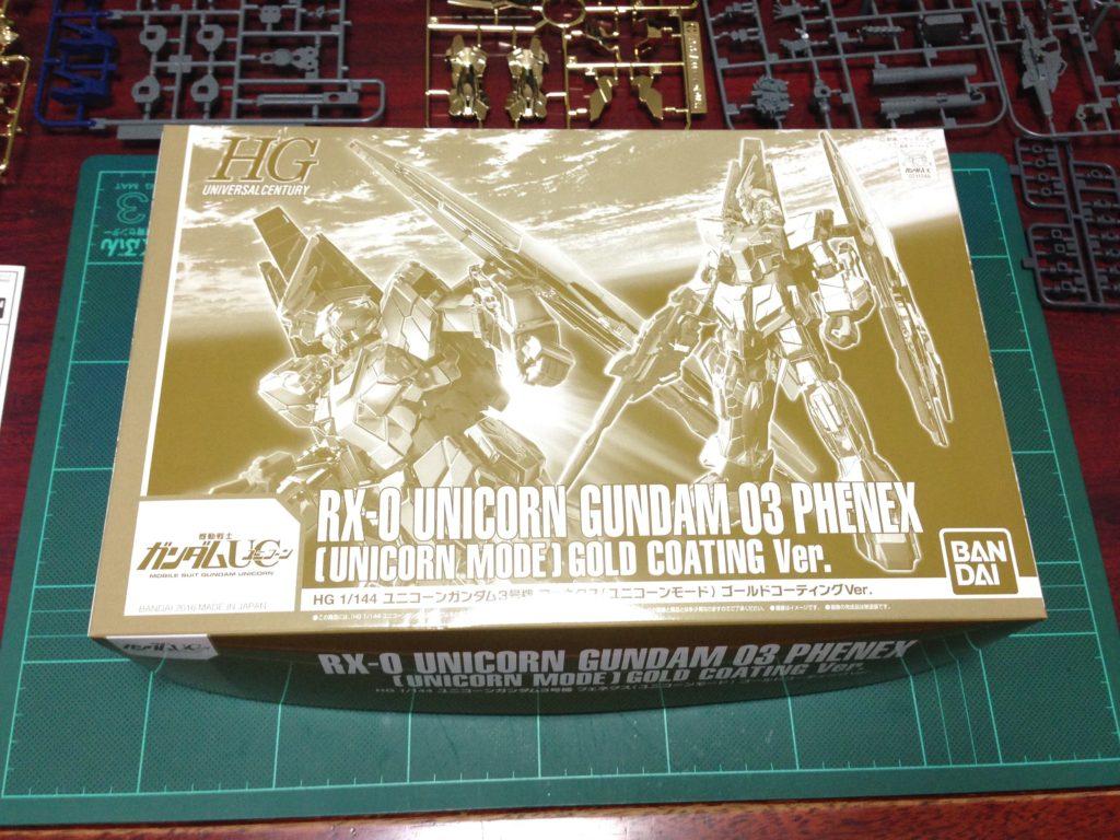 HGUC 1/144 ユニコーンガンダム3号機 フェネクス(UNモード)ゴールドコーティングVer. パッケージ