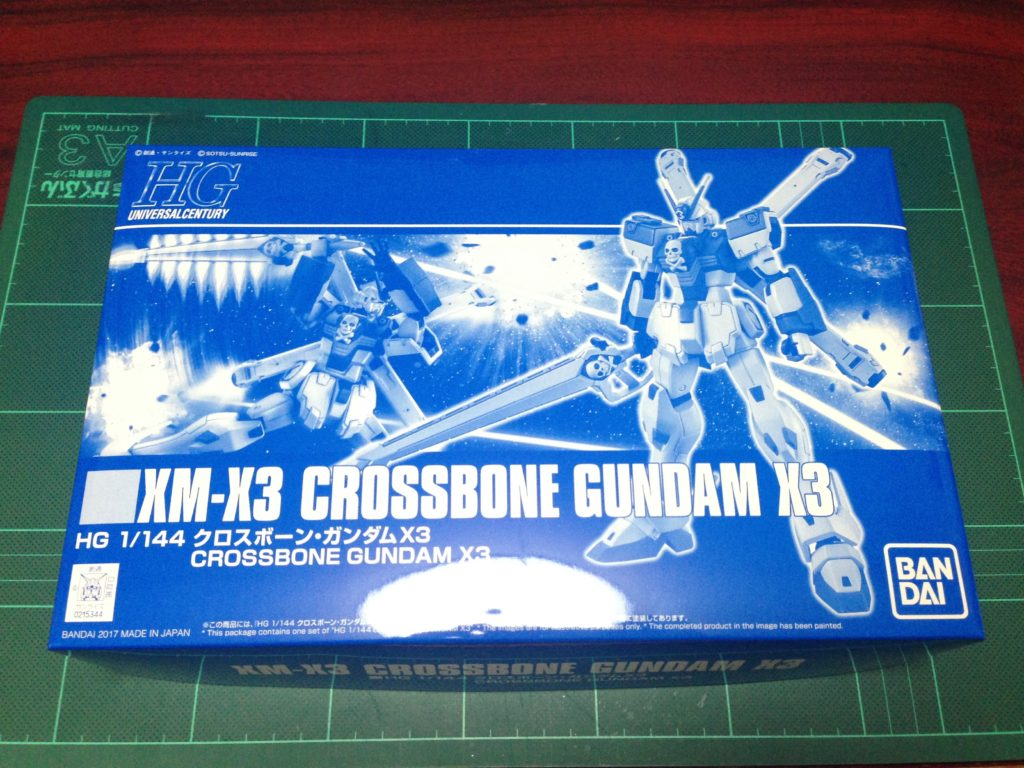 HGUC 1/144 XM-X3 クロスボーン・ガンダムX3 [Crossbone Gundam X-3] パッケージ