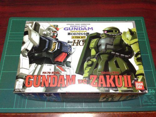 HG 1/144 RX-79 ガンダム VS MS-06J ザクII [Gundam vs. Zaku II]