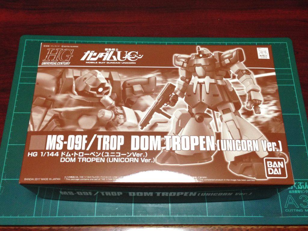 HGUC 1/144 MS-09F/TROP ドム・トローペン(ユニコーンVer.) パッケージ