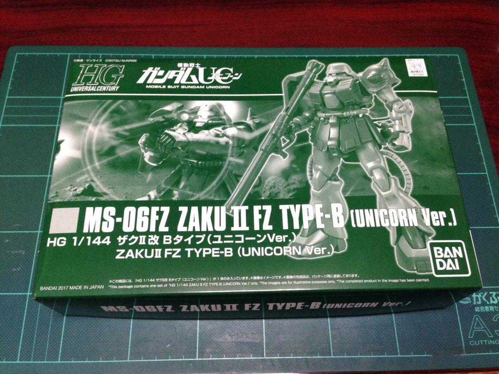 HGUC 1/144 MS-06FZ ザクII改 Bタイプ(ユニコーンVer.) パッケージ