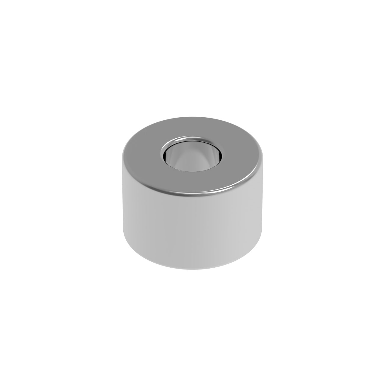 HIQPARTS(ハイキューパーツ) ネオジム磁石 N52 軸穴付丸形 直径3mm x 高さ2mm(8個入) [MGN3020H] 4582370708558