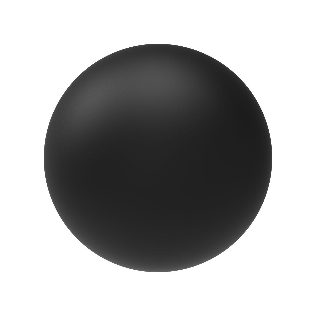 HIQPARTS(ハイキューパーツ) ネオジム磁石 ボール型 ブラック6.0mm(10個入) [MGNB-B60] 4573211373035