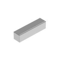 HIQPARTS(ハイキューパーツ) ネオジム磁石 N52 角形 1mm x 4mm x 高さ1mm(10個入) [MGNSQ141] 4582370701900 公式画像1