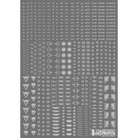 HIQPARTS(ハイキューパーツ) 1/144 RB02 コーションデカール ワンカラーホワイト(1枚入) [RB02-144OWH]